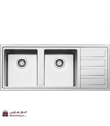 سینک ظرفشویی اسمگ مدل  LD116D-2